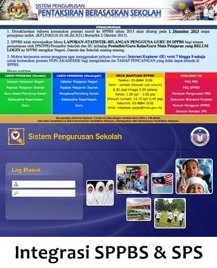 Integrasi SPPBS & SPS