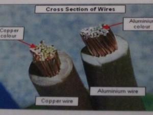 pendawaian elektrik cross section wire