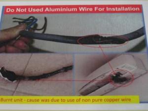 pendawaian elektrik aluminium wire