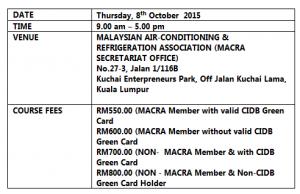 Kursus Aircond MACRA1