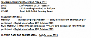 seminar on cipaa